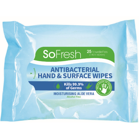 Antibacterial Hand/Surface Wipes
