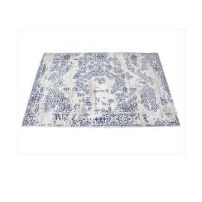 Antiq Cotton Chenille Rug - Blue & Taupe 120 x 180cm