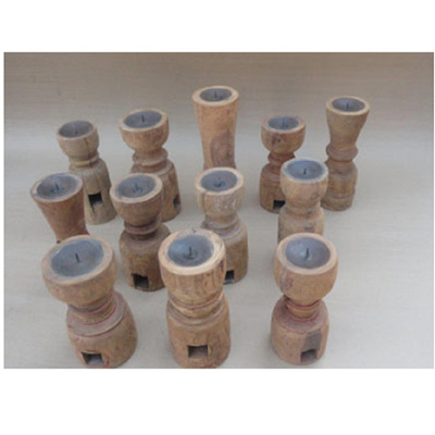 Antique Candle Stand - Natural