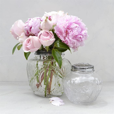 Antique Flower Globe Clear - Large