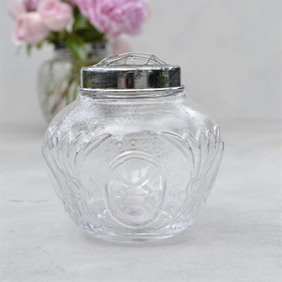 Antique Flower Globe Clear - Small