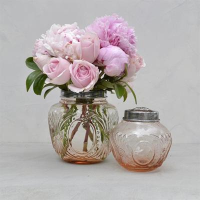 Antique Flower Globe Pink - Large