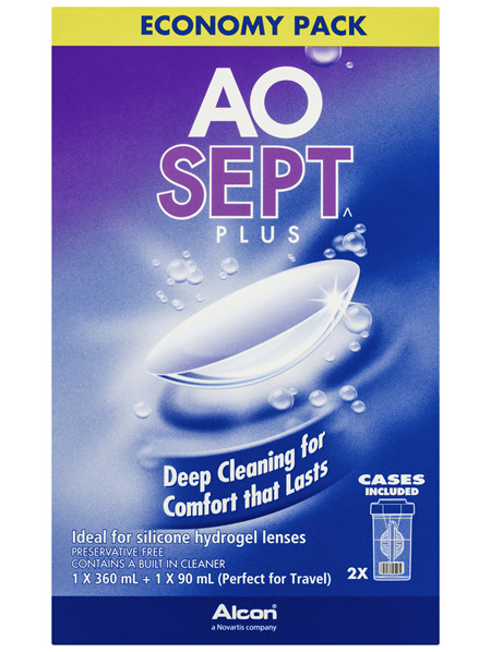 AOSEPT PLUS Contact Lens Solution Economy Pack
