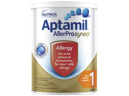 Aptamil AllerPro Syneo 1 Allergy Premium Baby Infant Formula From Birth to 6 Months 900g