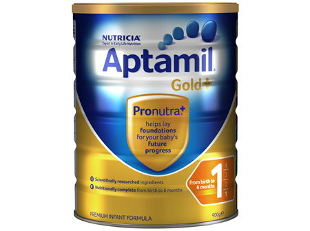Aptamil Gold+ 1 Baby Infant Formula From Birth to 6 Months 900g
