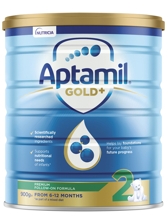 Aptamil Gold+ 2 Pronutra Biotik Baby Follow-On Formula From 6 to 12 Months 900g