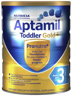 Aptamil Gold+ 3 Premium Toddler Milk Drink From 1 Year 900g