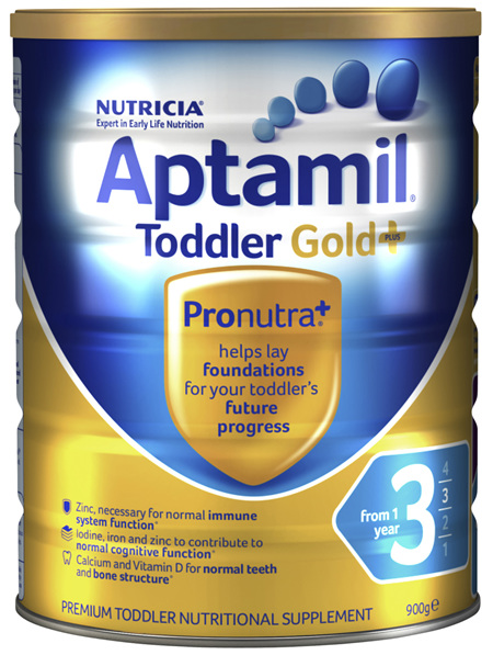Aptamil Gold+ 3 Toddler Milk Drink From 1 Year 900g