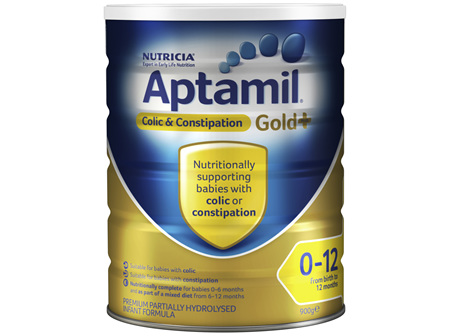 Aptamil Gold+ Colic & Constipation Baby Infant Formula From Birth to 12 Months 900g