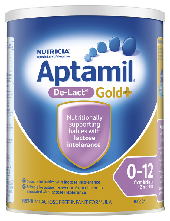 Aptamil Gold+ De-Lact Baby Infant Formula From Birth to 12 Months 900g
