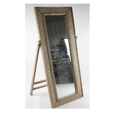 Arch Woven Floor Standing Mirror - White - 149cmh