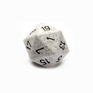 Arctic Camo' Large Twenty Sided Dice