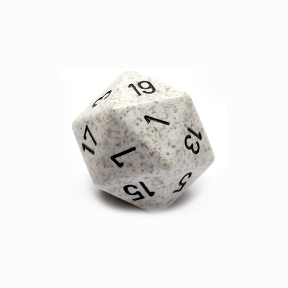 Arctic Camo Large 24mm Twenty Sided Dice Games and Hobbies New Zealand NZ