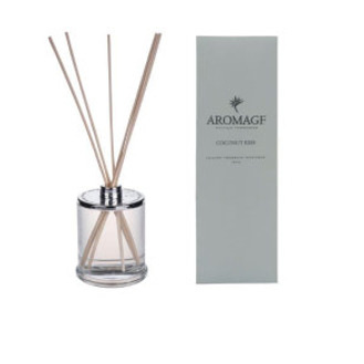 Aromage Diffuser - Clear Glass Bottle Coconut Kiss - 9cmh