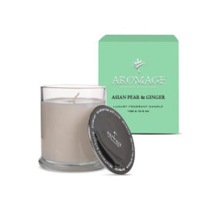 Aromage Fragrant Candle Clear Glass-Asian Pear&Ginger 10.5cmh