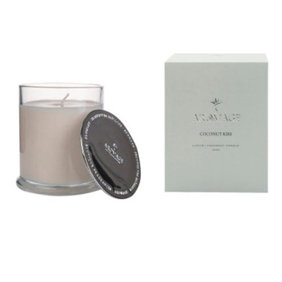 Aromage Fragrant Candle Clear Glass-Coconut Kiss