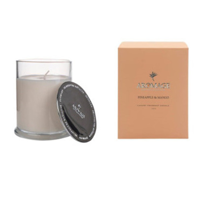 Aromage Fragrant Candle Clear Glass- Pineapple&Mango 7.3cmh