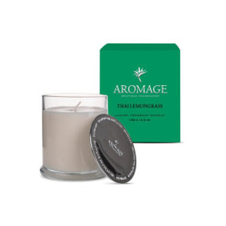 Aromage Fragrant Candle Clear Glass - Thai Lemongrass - 7.3cmh