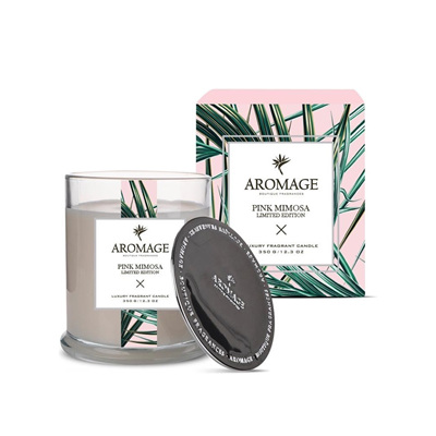 Aromage Fragrant Candle - Pink Mimosa (L)