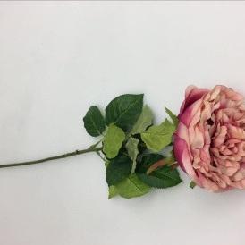 Artificial Flower - Peony Rose Soft Pink - 83cmh