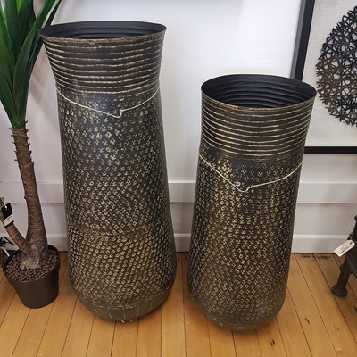Asana Metal Vase