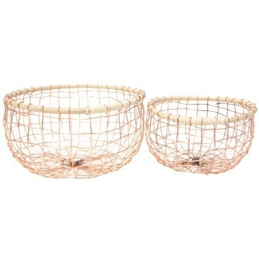 Asha Copper Wire Basket