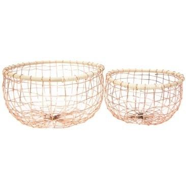Asha Copper Wire Basket