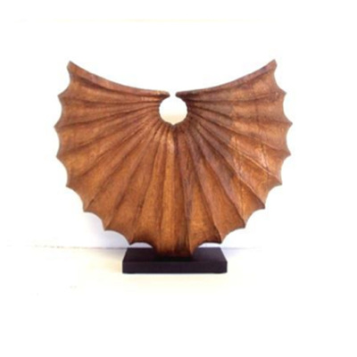 Asha Handcarved Wood Statue - Natural