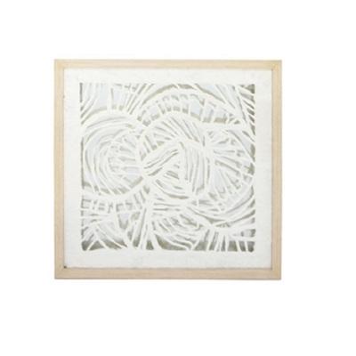 Asha Paper Art - Glass Framed 56x56cm