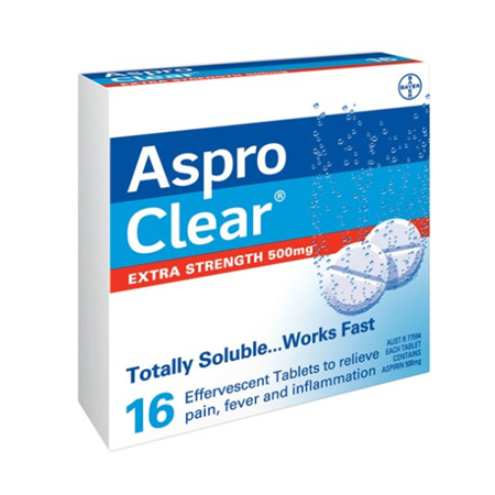 ASPRO Clear Extra Str. 500mg 16tabs