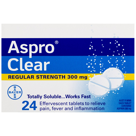 Aspro Clear Pain Relief 24 Soluble Effervescent Tablets
