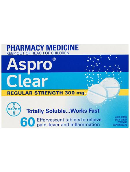 Aspro Clear Pain Relief Aspirin 60 Soluble Tablets