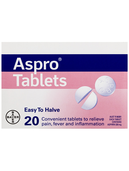 Aspro Clear Pain Relief Easy To Halve 20 Tablets
