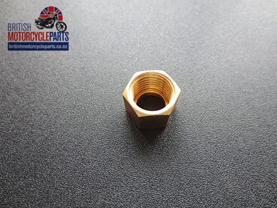 """AUC1094 Nut - Petrol Pipe Spigot - 1/4"""" BSP - Amal"""