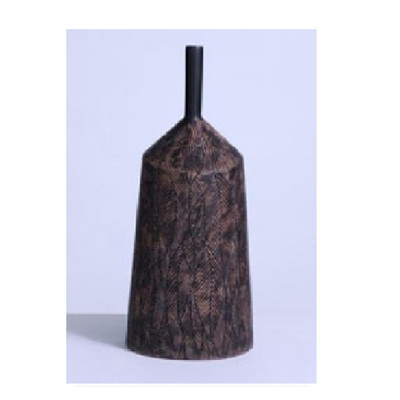 Autumn Vase - Distressed Chocolate - Small