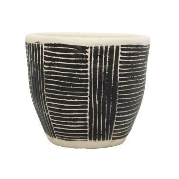 Avary Planter - Black & White - 11cmh