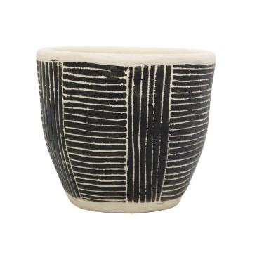 Avary Planter - Black & White - 11cmh