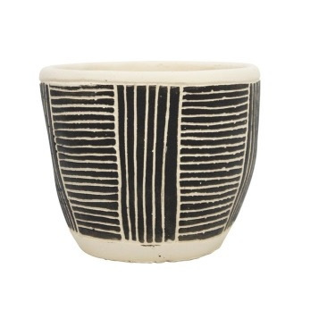 Avary Planter - Black & White - 12.5cmh