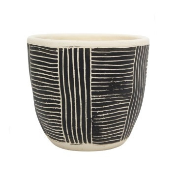 Avary Planter - Black & White - 16cmh