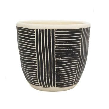 Avary Planter - Black & White - 16cmh