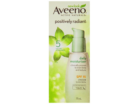 Aveeno Active Naturals Positively Radiant Daily Moisturiser SPF15 75mL