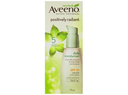 Aveeno Active Naturals Positively Radiant Daily Moisturiser SPF15 75mL