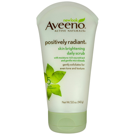 Aveeno Active Naturals Positively Radiant Skin Brightening Daily Scrub 140g