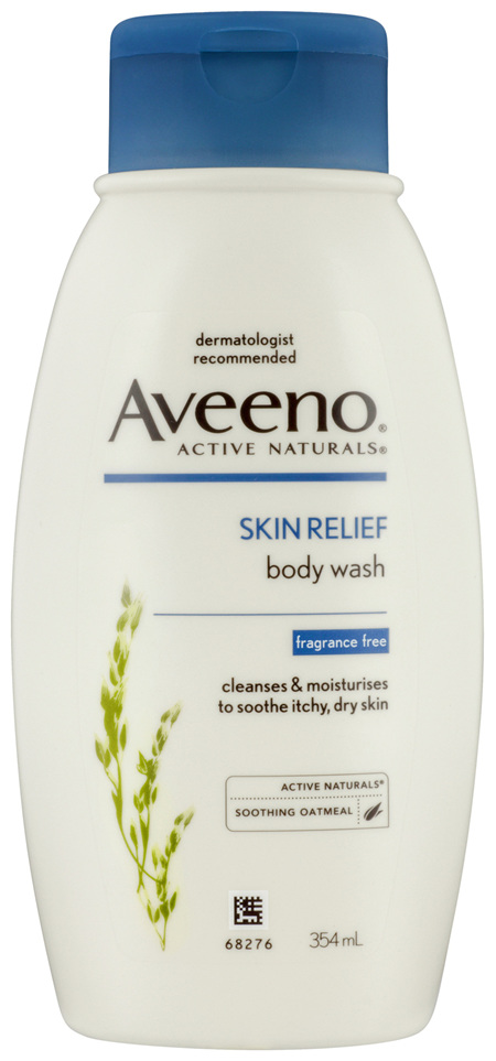 Aveeno Active Naturals Skin Relief Fragrance Free Body Wash 354 mL
