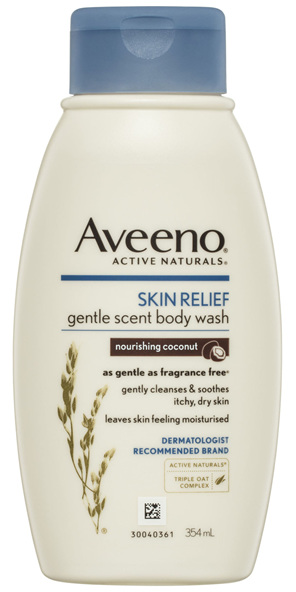 Aveeno Active Naturals Skin Relief Gentle Scent Body Wash Nourishing Coconut 354mL