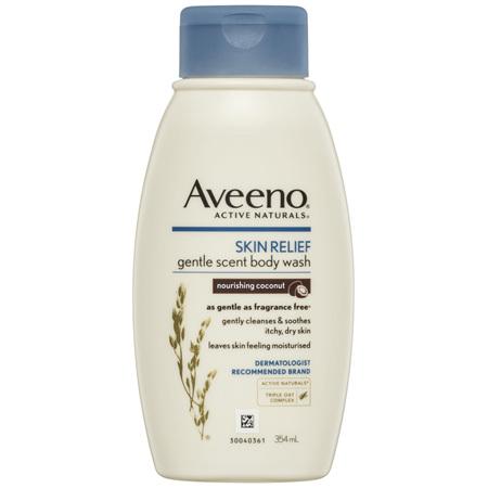 Aveeno Active Naturals Skin Relief Gentle Scent Body Wash Nourishing Coconut 354mL