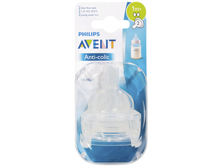 Avent Anti-colic Slow Flow Teats 2 Pack