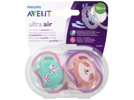 Avent Ultra Air BPA Free Soother 18m+ 2 Pack
