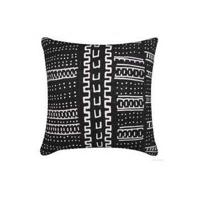 Aztec Tribal Cushion - Black & Cream