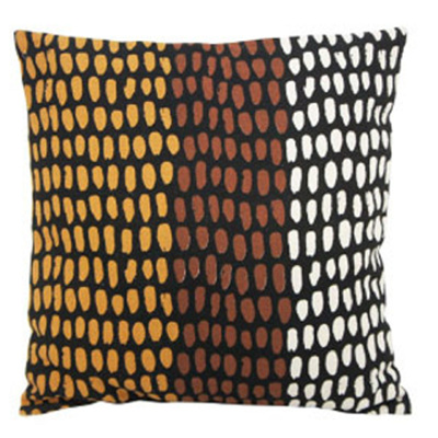 Azuba Cushion - Terracotta & Mustard - 55x55cm